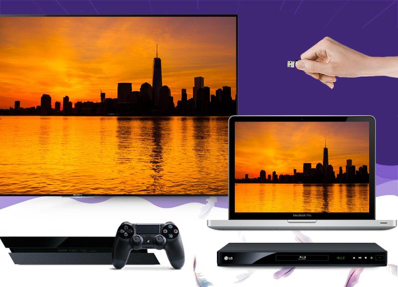 Smart Tivi Sony KD- 55X9000C 55 inch   -  Mở rộng thế giới giải trí với khả năng kết nối thiết bị ngoài đa dạng