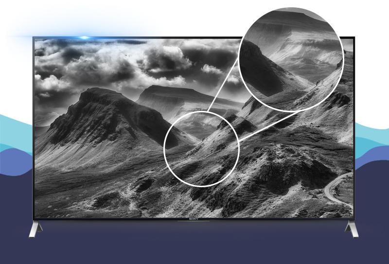 Smart Tivi Sony KD- 55X9000C 55 inch -  Các hoạt cảnh chuyển động nhanh được hiển thị mượt mà mà không có bất kì hiện tượng mờ nhòe nào với tần số quét 800 Hz