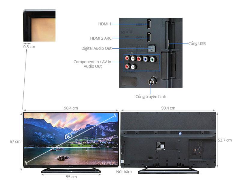 Thông số kỹ thuật Tivi Panasonic 40 inch TH-40C400V