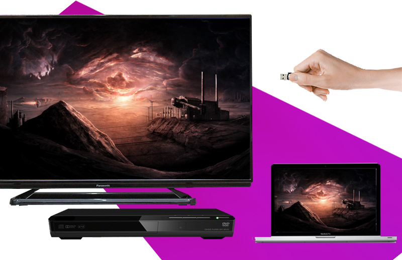 Tivi Panasonic TH-40C400V 40 inch -  Khả năng kết nối đa dạng với nhiều thiết bị như laptop, USB, đầu DVD,…
