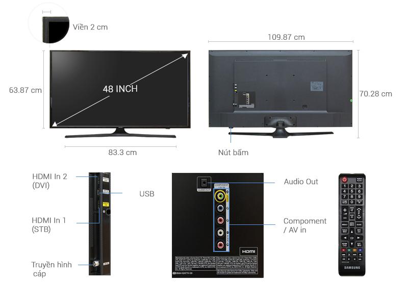 Thông số kỹ thuật Tivi Samsung 48 inch UA48J5000