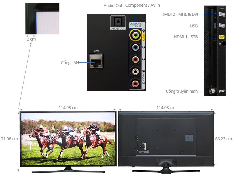 Thông số kỹ thuật Internet Tivi LED Samsung UA50J5200 50 inch