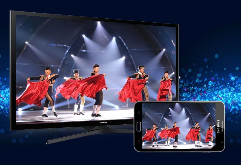Internet Tivi LED Samsung UA50J5200 50 inch  - Chia sẻ hình ảnh trên điện thoại với tivi với mạng không dây tiện lợi