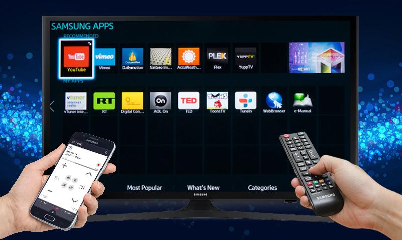 Internet Tivi LED Samsung UA50J5200 50 inch  - Điều khiển tivi bằng điện thoại với ứng dụng Smart View