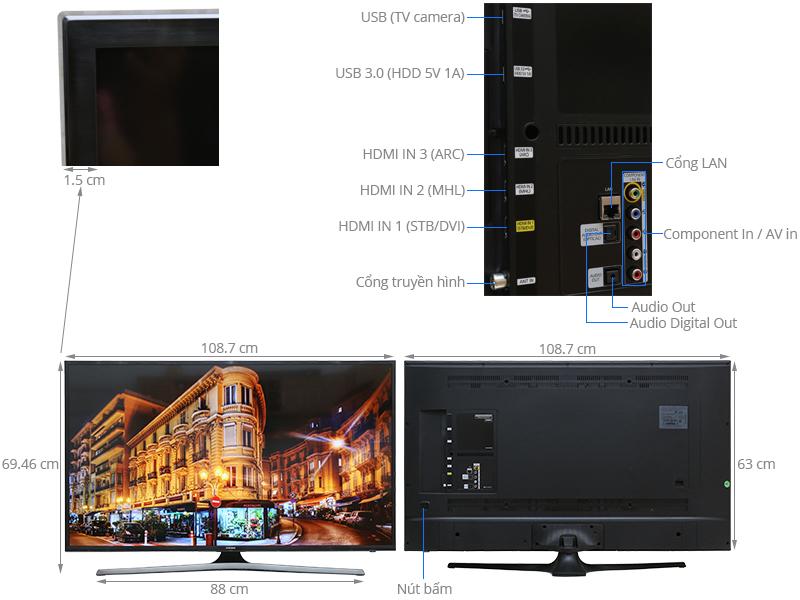 Thông số kỹ thuật Smart Tivi Samsung 48 inch UA48JU6060