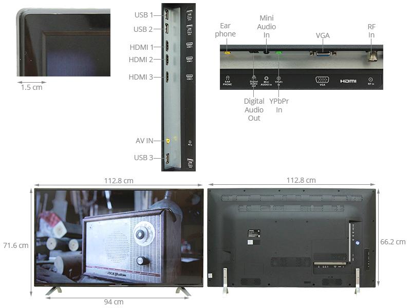 Thông số kỹ thuật Tivi Panasonic  50 inch TH-50CX400V