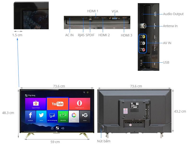 Thông số kỹ thuật Internet Tivi TCL 32 inch L32D2790
