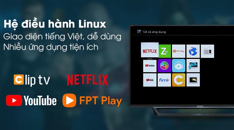 Smart Tivi Sony 40 inch KDL-40W650D - Giao diện tivi