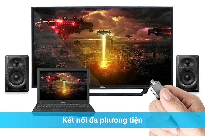 Smart Tivi Sony 48 inch KDL-48W650D - Kết nối đa phương tiện