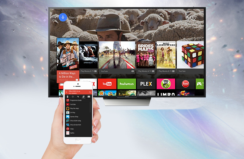Android Tivi Sony 55 inch KD-55X8500D - Điều khiển tivi bằng điện thoại