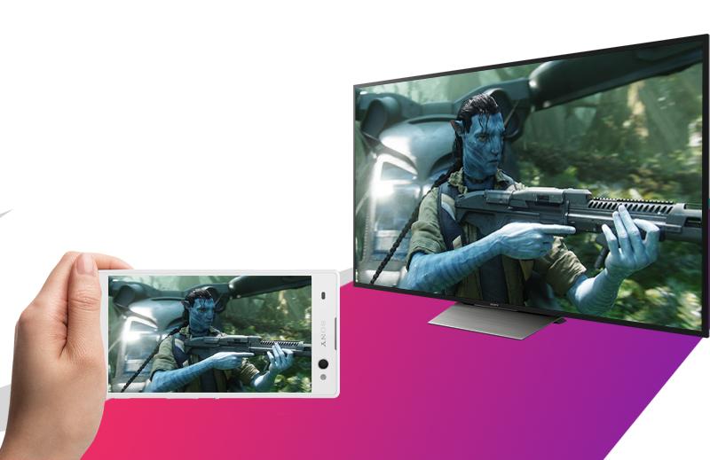 Android Tivi Sony 65 inch KD-65X8500D - Chiếu màn hình điện thoại lên tivi