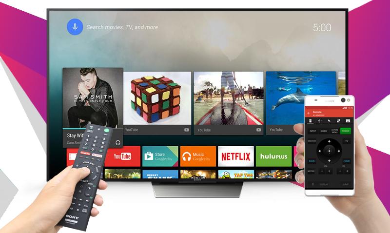 Android Tivi Sony 65 inch KD-65X8500D - Điều khiển tivi bằng điện thoại