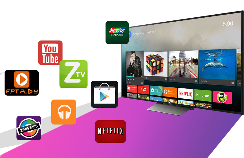 Android Tivi Sony 65 inch KD-65X8500D - Ứng dụng
