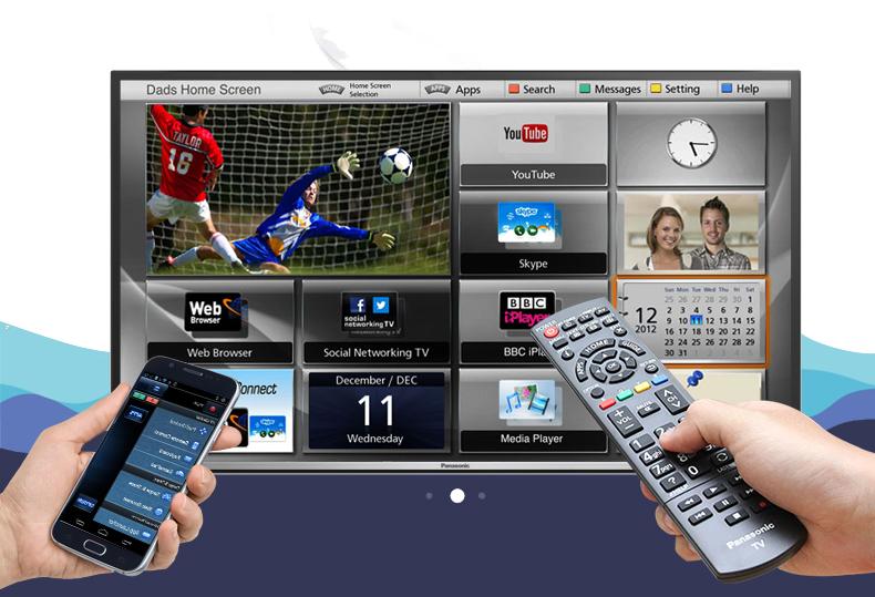 Internet tivi Panasonic 43 inch TH-43DS600V - Điều khiển tivi bằng điện thoại