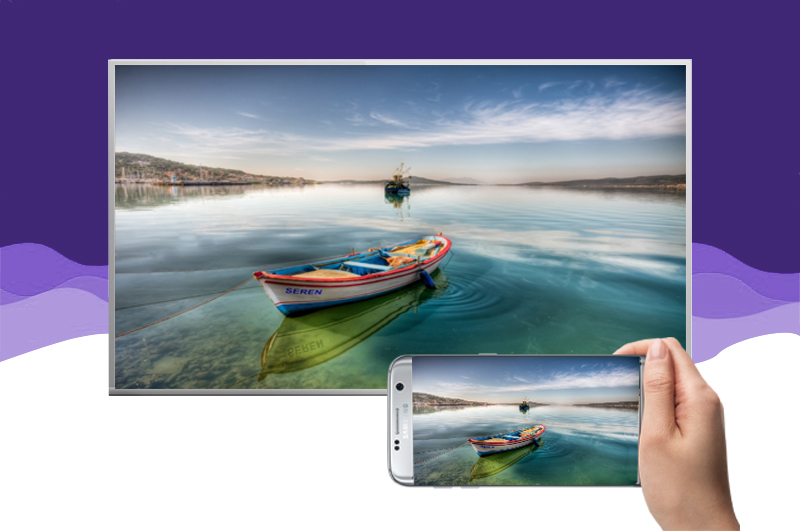 Internet tivi Panasonic 43 inch TH-43DS630V - Chiếu màn hình điện thoại lên tivi
