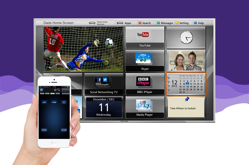Internet tivi Panasonic 43 inch TH-43DS630V - Điều khiển tivi bằng điện thoại