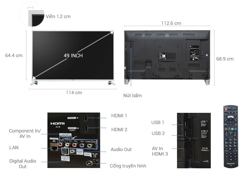 Thông số kỹ thuật Smart Tivi Panasonic 49 inch TH-49DS630V