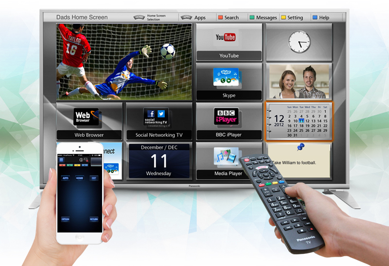 Smart Tivi Panasonic 49 inch TH-49DS630V - Điều khiển tivi bằng điện thoại