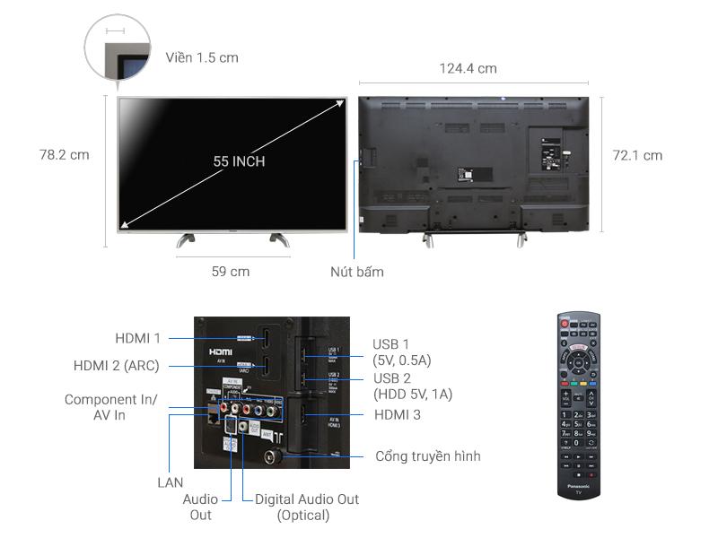 Thông số kỹ thuật Smart Tivi Panasonic 55 inch TH-55DS630V