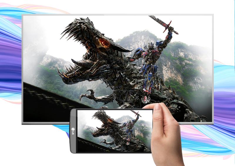 Smart Tivi Panasonic 55 inch TH-55DS630V - Chiếu màn hình điện thoại lên tivi