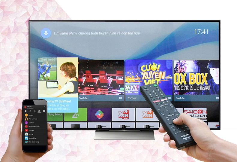 Smart Tivi Sony 55 inch KD-55X9300D - Điều khiển tivi bằng điện thoại