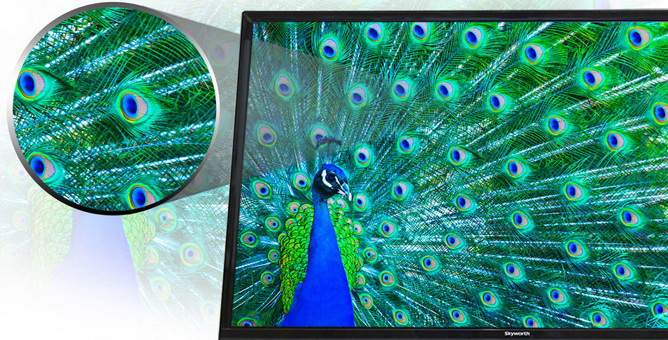 Tivi Led Skyworth 32E310 32 inch - Mang màu sắc sống động hơn vào hình ảnh với công nghệ tăng cường màu sắc 10 bit
