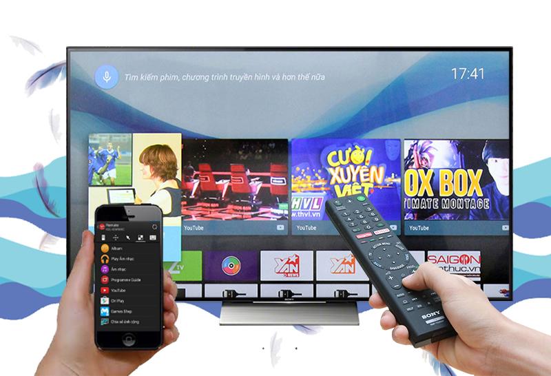 Smart Tivi Sony 65 inch KD-65X9300D - Điều khiển tivi bằng điện thoại