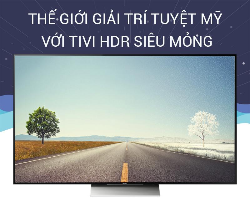 Smart Tivi Sony 65 inch KD-65X9300D - Thế giới giải trí tuyệt mỹ với tivi HDR siêu mỏng