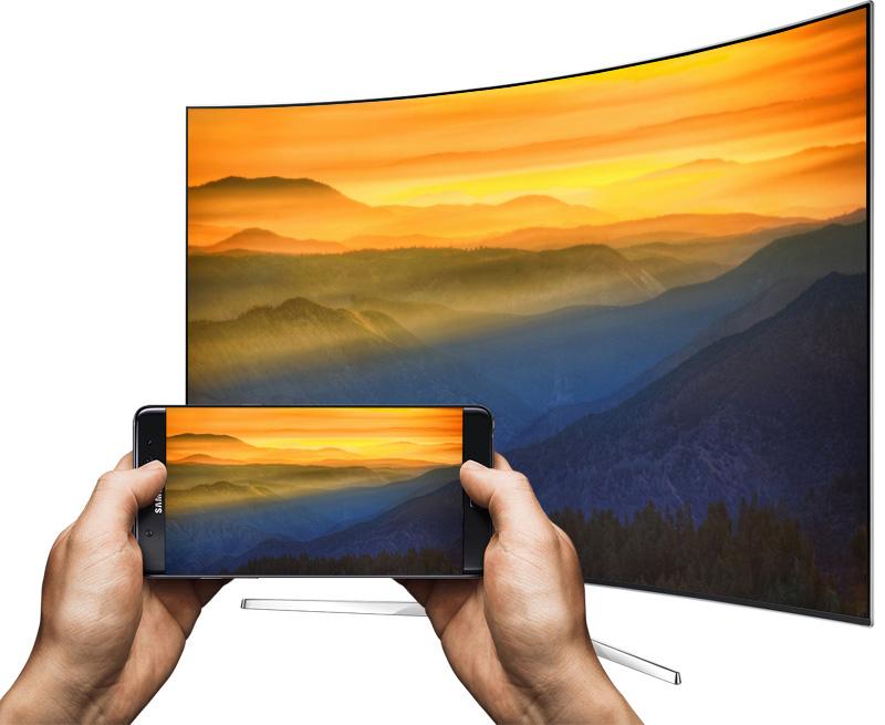 Smart tivi Cong Samsung 78 inch UA78KS9000 - Chiếu màn hình điện thoại lên tivi