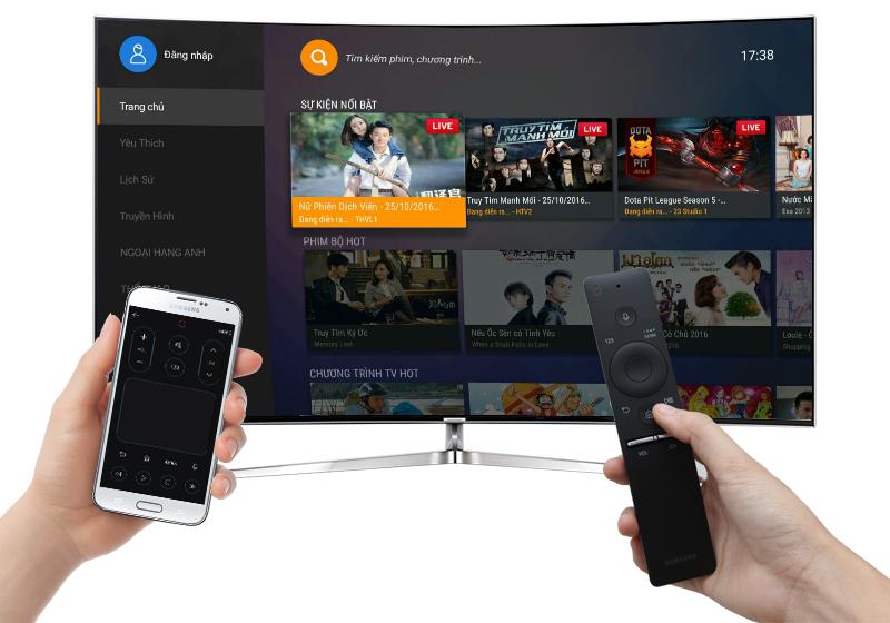 Smart tivi Cong Samsung 78 inch UA78KS9000 - Điều khiển tivi bằng điện thoại