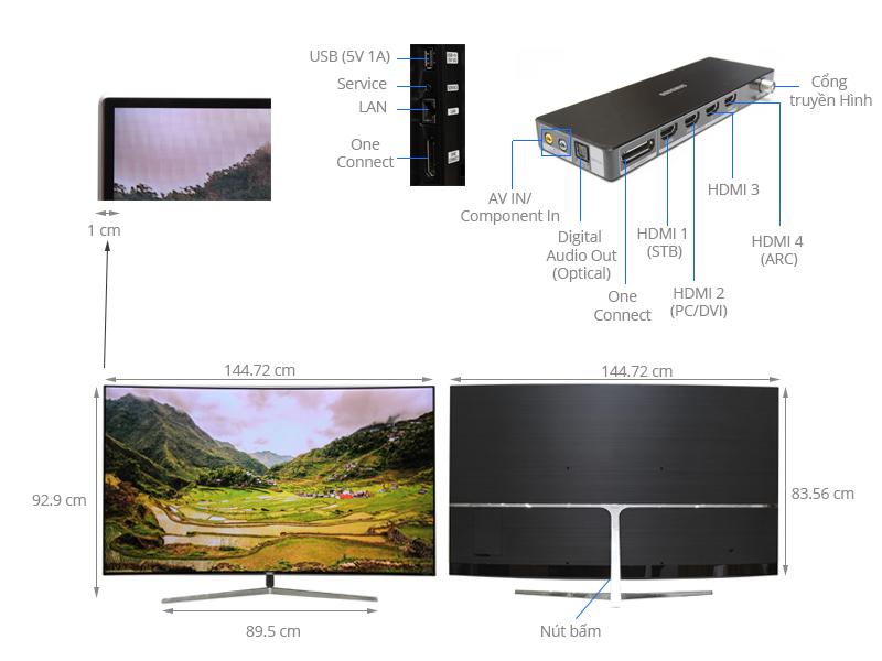 Thông số kỹ thuật Smart Tivi Cong Samsung 65 inch UA65KS9000