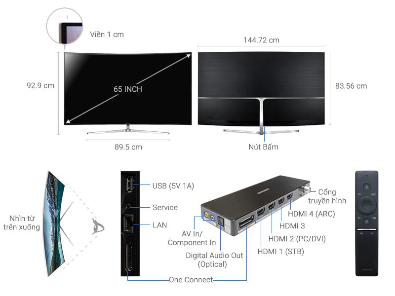 Thông số kỹ thuật Smart Tivi Cong Samsung 4K 65 inch UA65KS9000