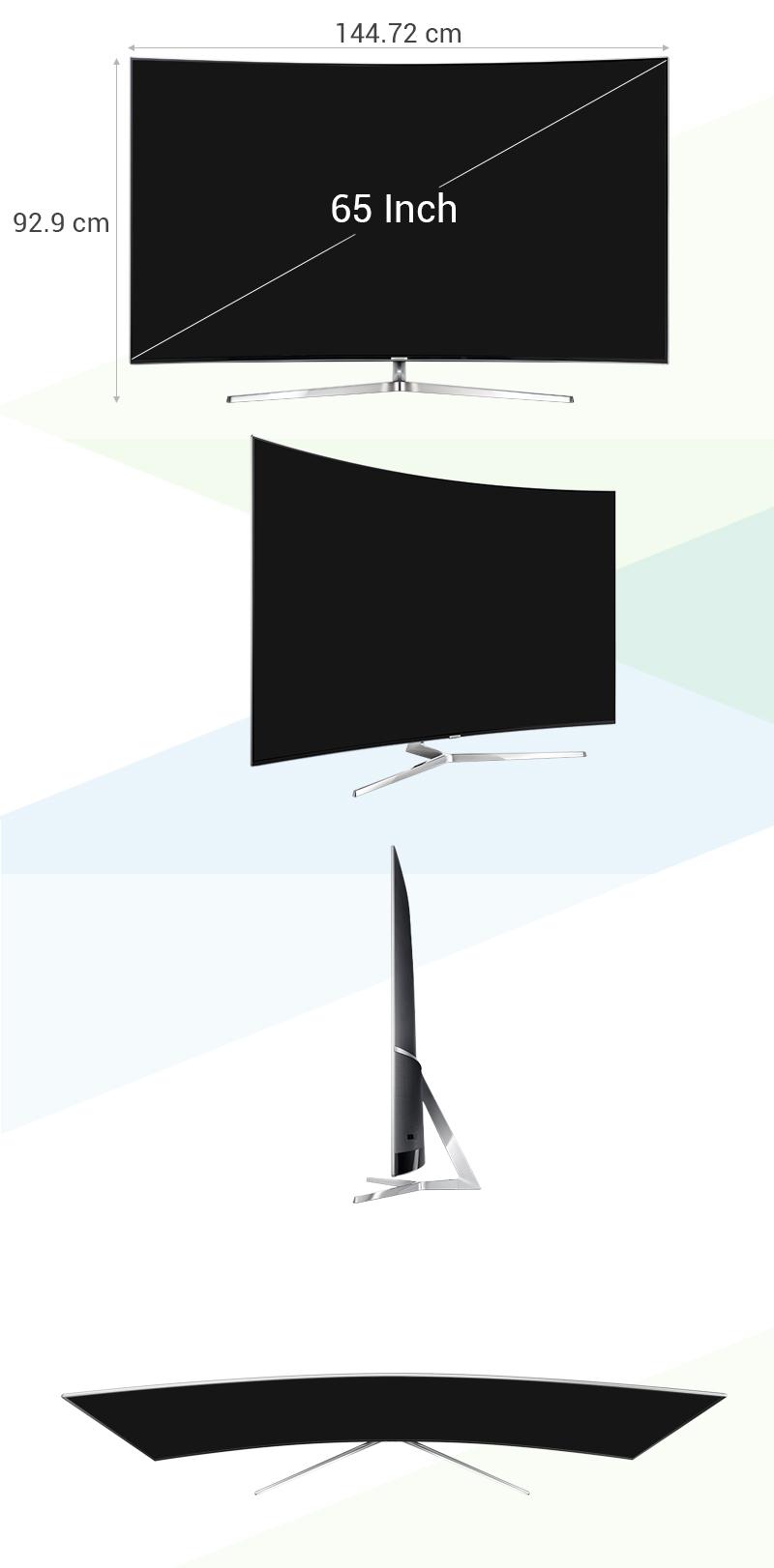 Smart tivi Samsung 65 inch UA65KS9000 - Kích thước tivi