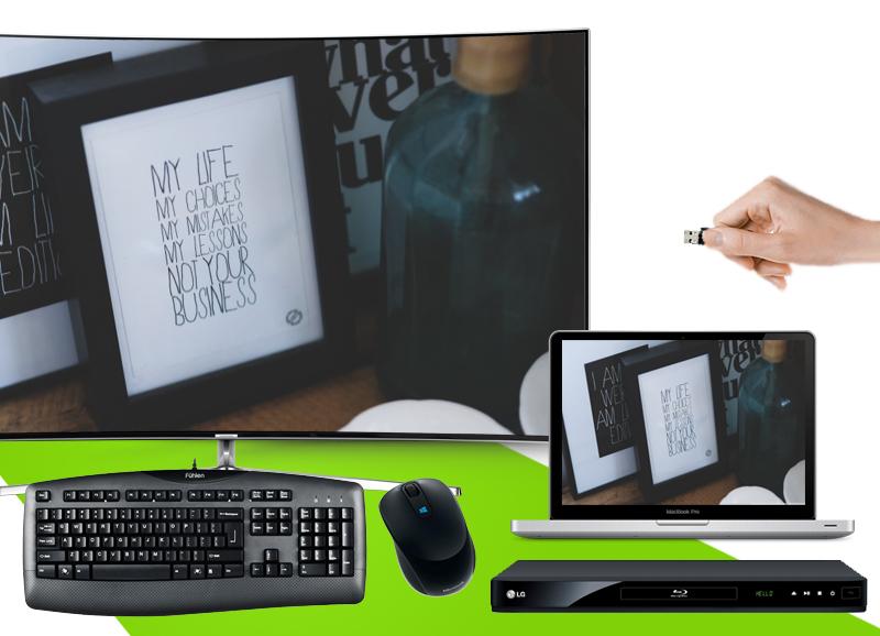 Smart tivi Samsung 65 inch UA65KS9000 - Kết nối tivi với USB, máy tính, dàn âm thanh