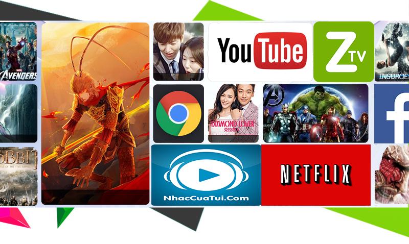 Smart tivi Samsung 65 inch UA65KS9000 - Ứng dụng phổ biến trên tivi
