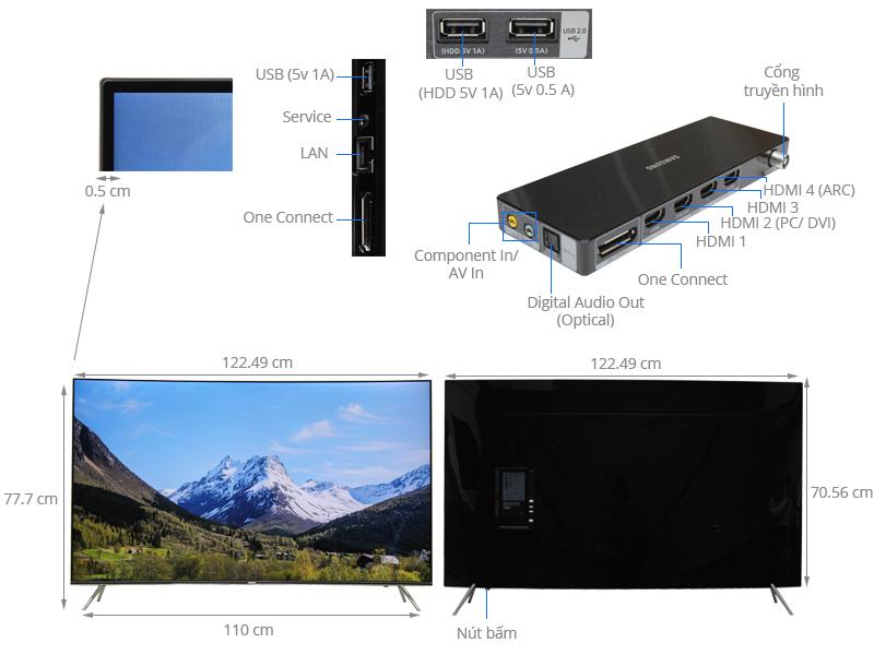 Thông số kỹ thuật Smart Tivi Cong Samsung 55 inch UA55KS7500