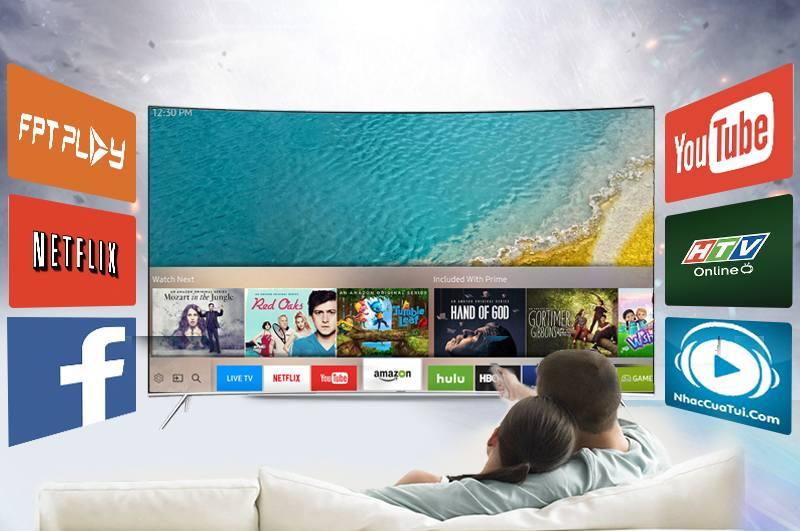 Smart tivi cong Samsung 55 inch UA55KS7500 - Smart tivi chạy hệ điều hành Tizen 2016