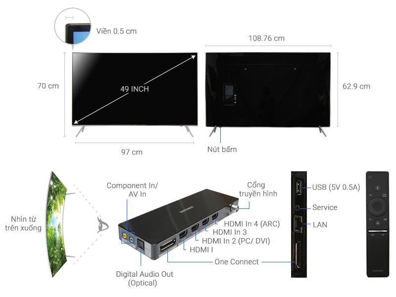 Thông số kỹ thuật Smart Tivi Cong Samsung 4K 49 inch UA49KS7500