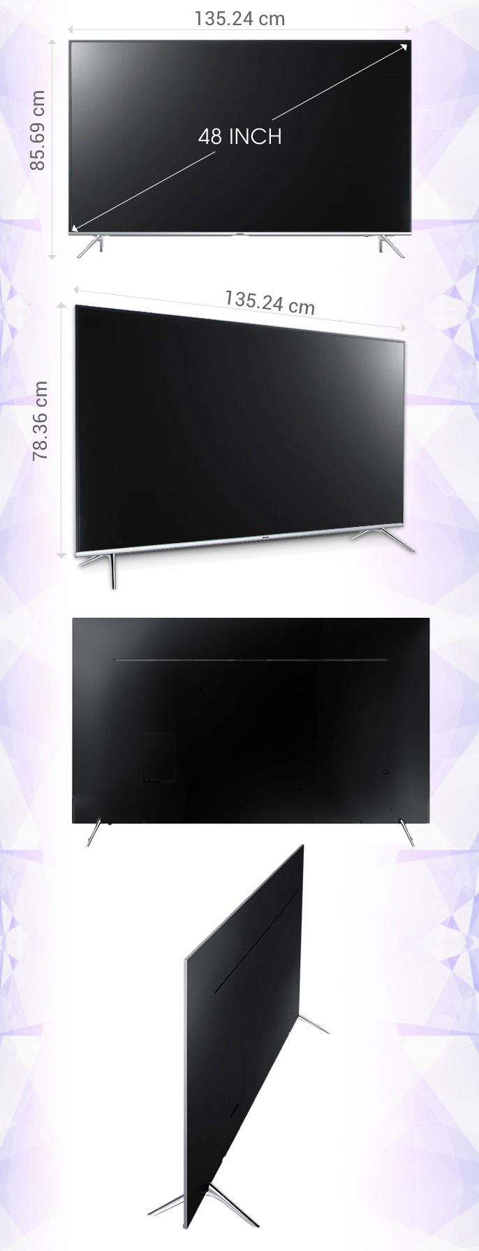 Smart tivi Samsung 60 inch UA60KS7000 - Kích thước tivi