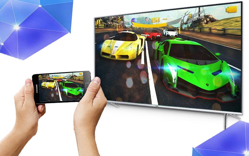 Smart tivi Samsung 60 inch UA60KS7000 - Chiếu màn hình điện thoại lên tivi
