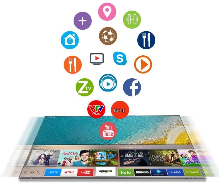 Smart tivi Samsung 60 inch UA60KS7000 - Kho ứng dụng phong phú