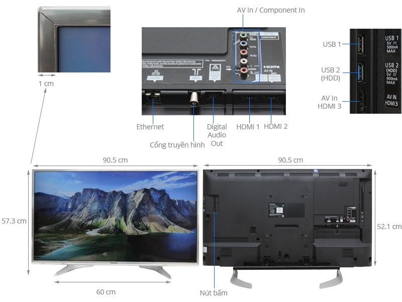 Thông số kỹ thuật Smart tivi Panasonic 40 inch TH-40DX650V
