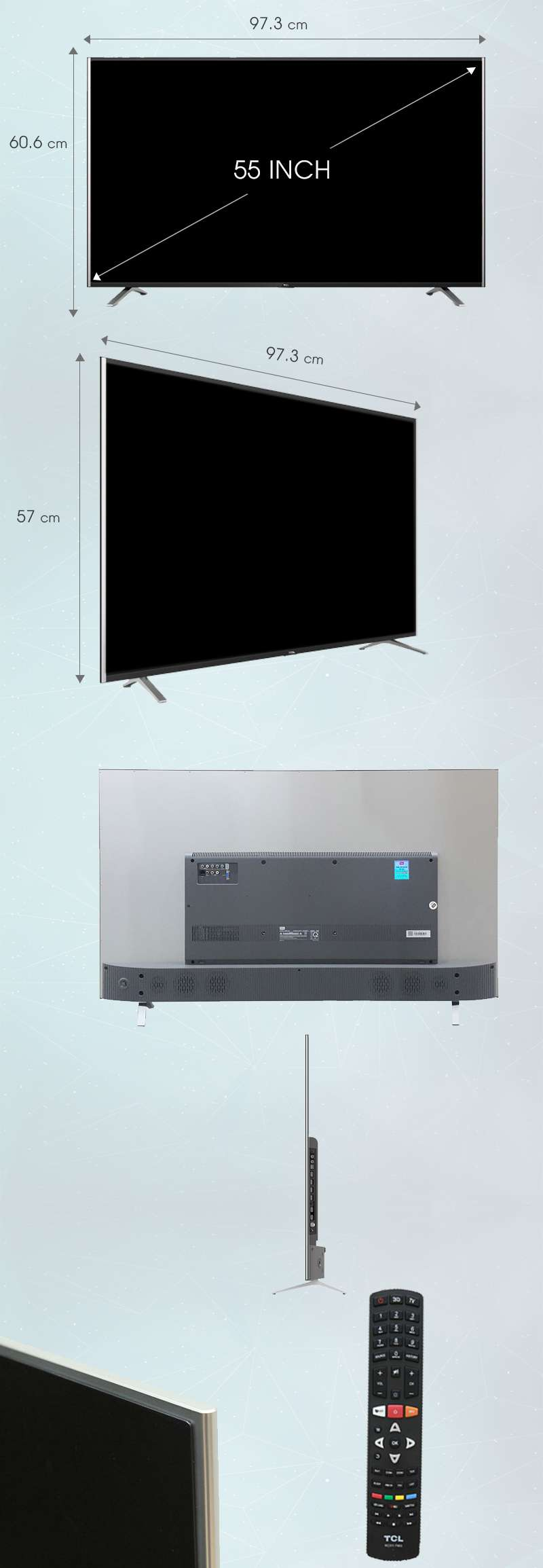 Smart Tivi TCL 55 inch L55C1-UF