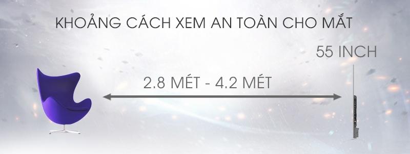 Smart Tivi TCL 55 inch L55C1-UF - Khoảng cách xem tivi