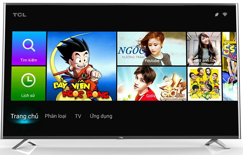 Smart Tivi TCL 50 inch L50C1-UF - Giao diện Android trên tivi