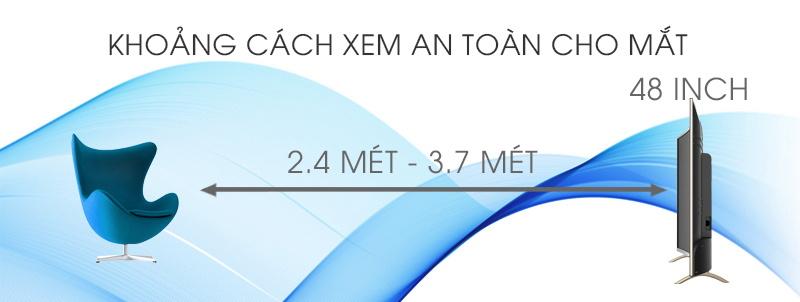 Smart Tivi Cong TCL 48 inch L48P1-CF-Khoảng cách