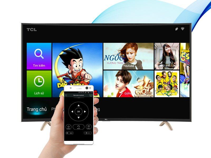 Smart Tivi Cong TCL 48 inch L48P1-CF-Điều khiển tivi bằng điện thoại