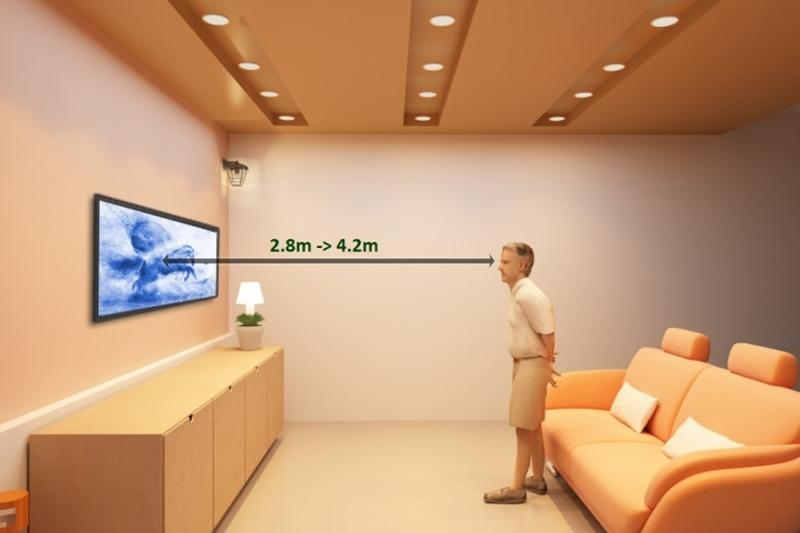 Smart Tivi LG 55 inch 55UH650T - Khoảng cách xem tivi