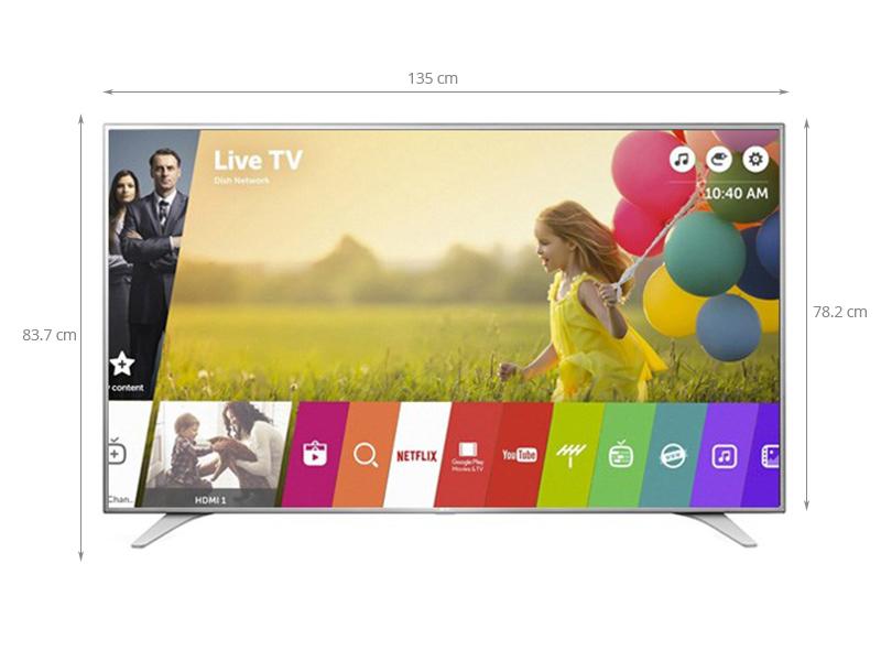 Thông số kỹ thuật Smart Tivi LG 60 inch 60UH650T