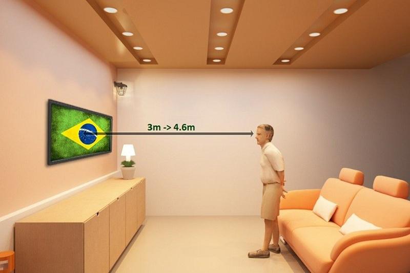 Smart Tivi LG 60 inch 60UH650T - Khoảng cách xem tivi